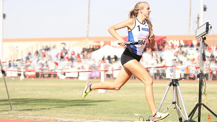 Chandler's Morgan Foster will compete in the 800 meters in this weekend's prestigious Brooks PR Invitational in Seattle. Photo courtesy of John Hays, azmilesplit.com