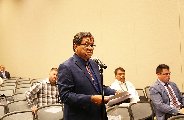 Navajo Nation President Russell Begaye told the DOI panel that the government-to-government relationship is central to the trust responsibilities that exist between the U.S. government and the Navajo people.  Submitted photo