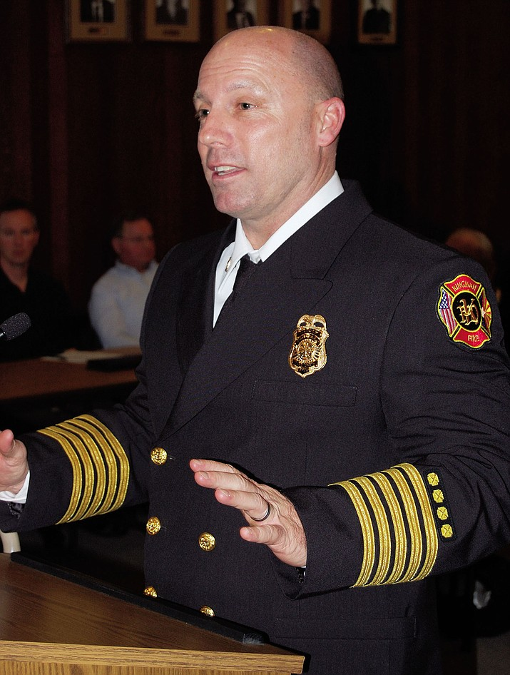 Kingman Fire Chief Jake Rhoades