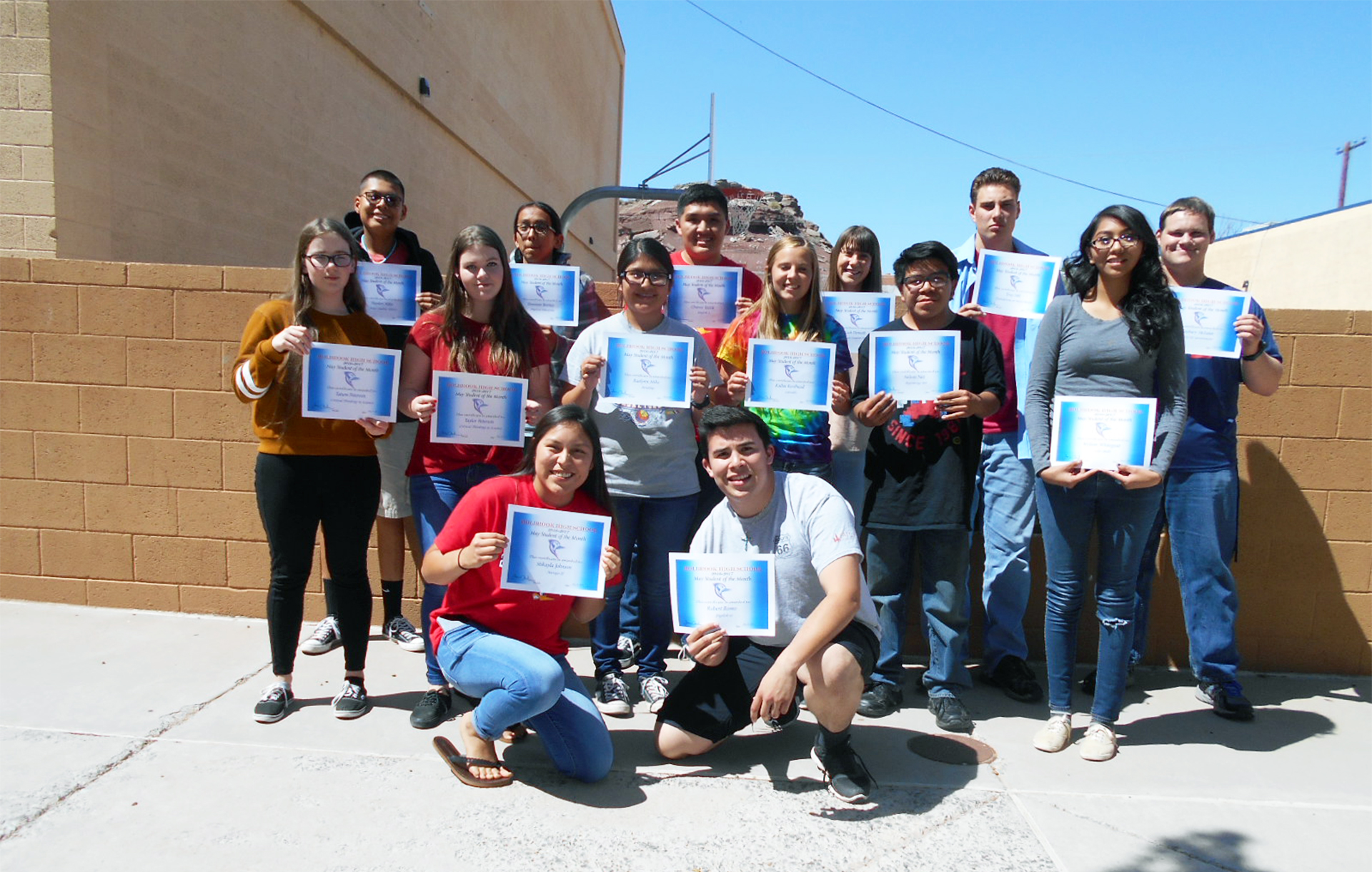 Holbrook High School May Students of the Month | Navajo ...