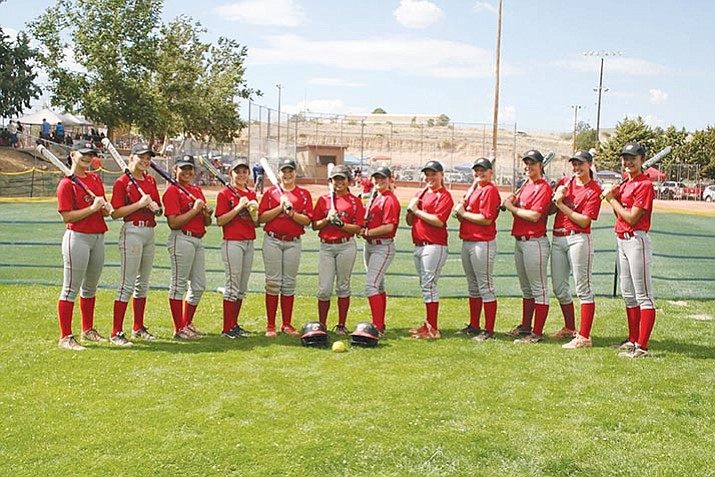 The Arizona Batbusters are a 14U National Softball Association girls fastpitch softball team based in Prescott Valley. The team is playing in the NSA Beat the Heat Tournament this weekend in Prescott. (Arizona Batbusters/Courtesy)