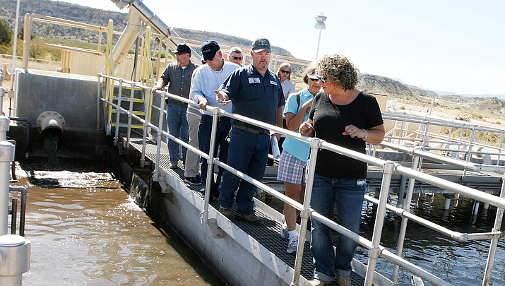 Camp Verde council tours wastewater plant