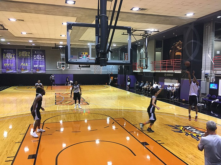 The Phoenix Suns worked out six players Monday in preparation for Thursday's NBA Draft.