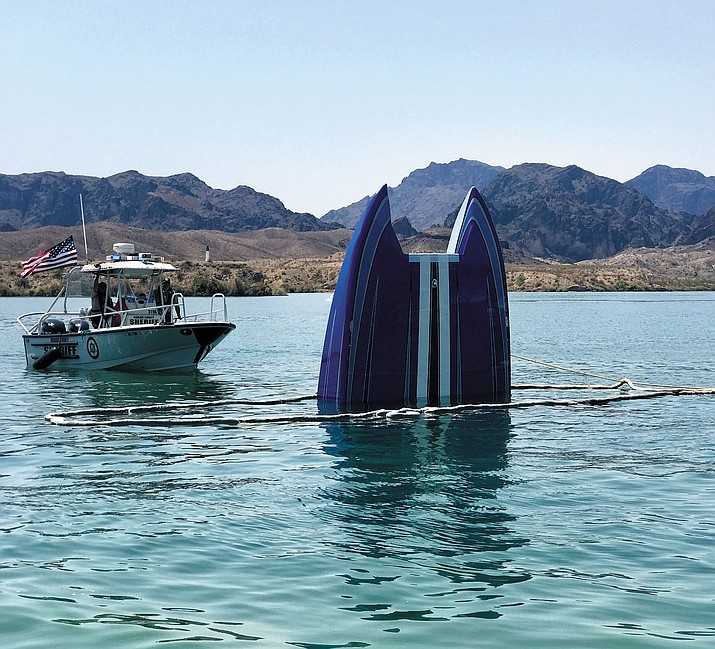 The operator of this boat that crashed Tuesday on Lake Havasu was treated for a severe head laceration and two passengers had minor injuries after all three were ejected.
