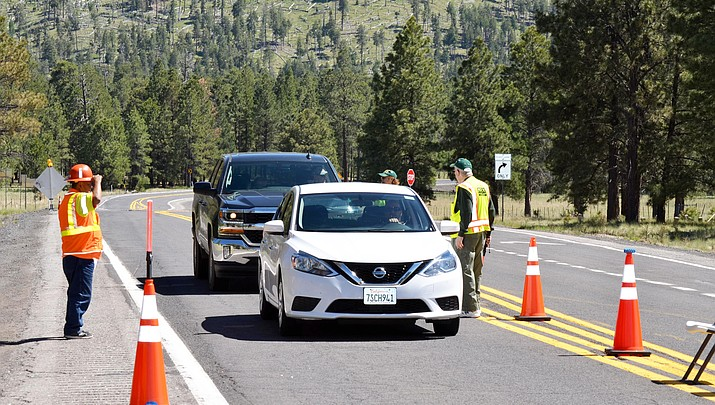 US 180 reopens north of Flagstaff after low visibility from wildfire