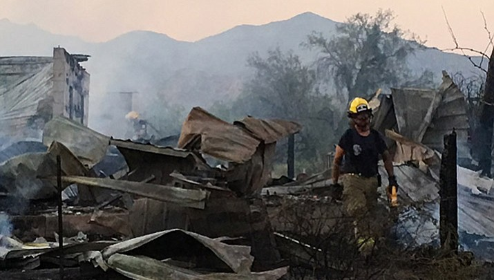 Fire destroys home near Bagdad