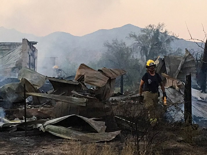 House fire in Bagdad. (YCSO/Courtesy)