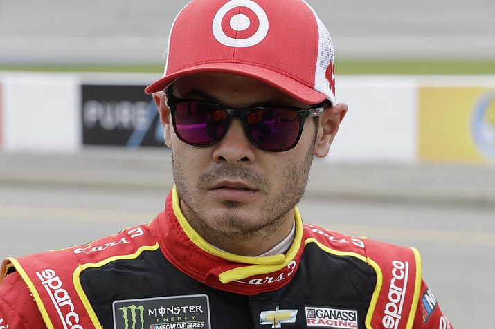 Kyle Larson looks on after qualifying, Friday, June 16, 2017, for the NASCAR Sprint Cup series auto race in Brooklyn, Mich. (Carlos Osorio/AP)