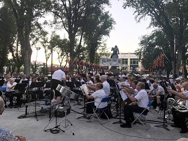 Yavapai College lights up the Yavapai County Courthouse Plaza with fun rhythms on Tuesday, June 27, for the next installment of the 2016 Summer Concert Series.
