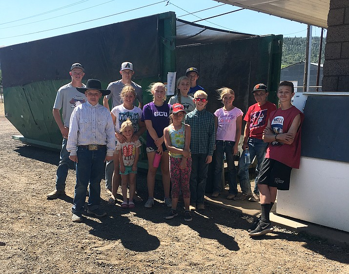 Parks in the Pines 4-H club cleans-up June 19 after a busy week of Rodeos.