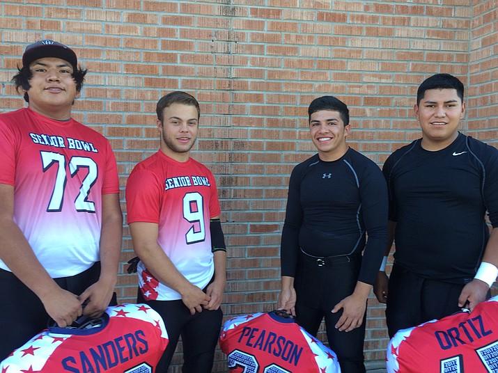 Josh Sanders, Tyler Smith, Cruz Pearson and Cisco Ortiz were invited to participate in the 1A Senior Bowl June 11 in Duncan, Arizona.
