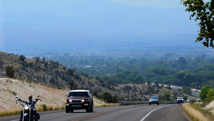Smoke from Goodwin Fire hovers over Verde Valley
