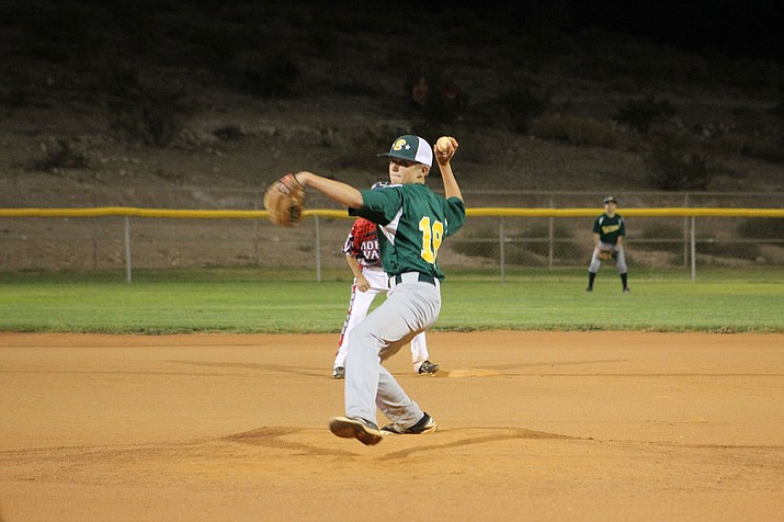 Ty Phipps struck out four batters in 1 1/3 innings of relief during Blythe, California's 12-1 win over Mohave Valley Wednesday night at Southside Park.