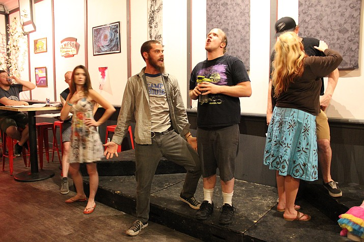 "The Wit's Shakesbeer's Prescott troupe rehearses its adaptation of Shakespeare's ""A Midsummer Night's Dream."""