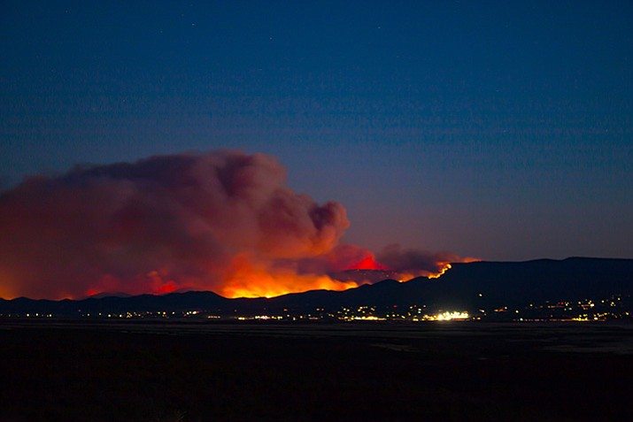 A photo of the Goodwin Fire on Tuesday evening, June 27.