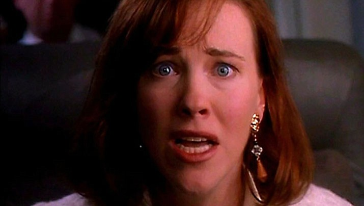 Catherine O'Hara (as Kate McCallister) appears in Home Alone (1990), as the on-screen, panic-stricken mom of Macaulay Culkin's character who she left at home while the family went on vacation. (Twentieth Century Fox/Handout)