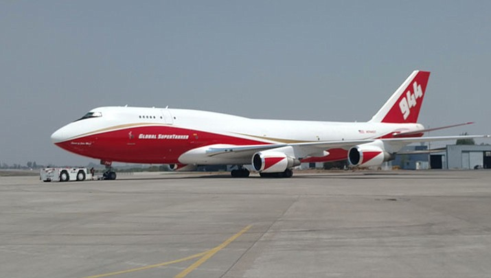 A Global Supertanker, based in Marana, Arizona, sits on the tarmac in Chile. (Global Supertanker/Courtesy)