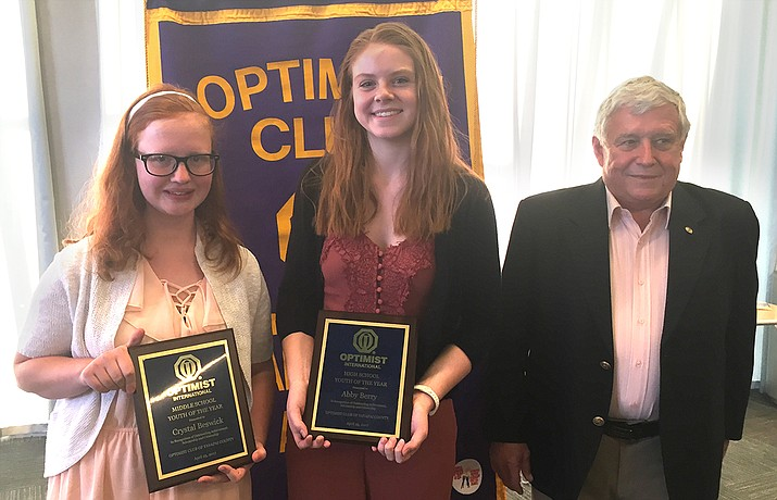 Optimist Club of Yavapai County Youth of the Year 2017