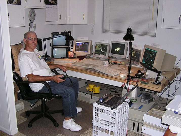 Gary Frey's control room for his astronomy studies at his Mayer home. (File Photo/Courier)