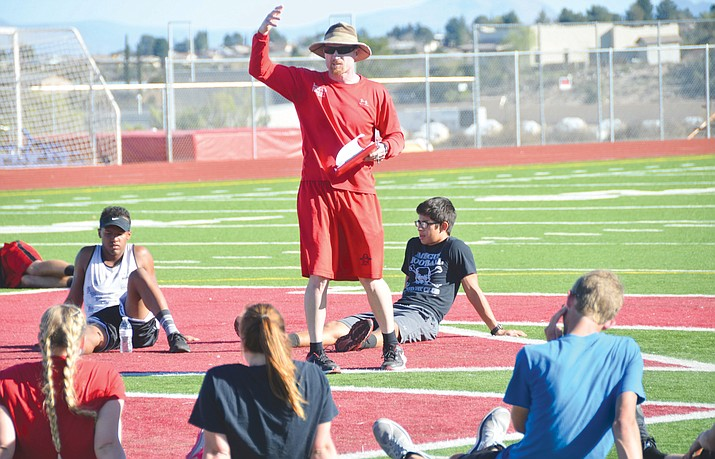 Yancey DeVore was named Mingus Union's newest athletic director. The former Marauder track and field, football and baseball coach said he wants to start a leadership club for student athletes this fall. (VVN File Photo)