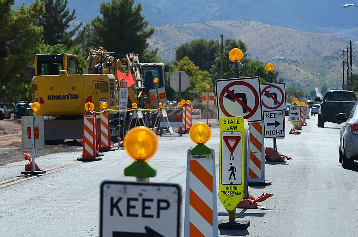 City Manager Doug Bartosh said that Mingus Avenue from Willard Street to Main Street will be under construction for almost a year. The current construction near Cottonwood Middle School is from utility companies preparing for the upcoming road projects.  (VVN/Vyto Starinskas)