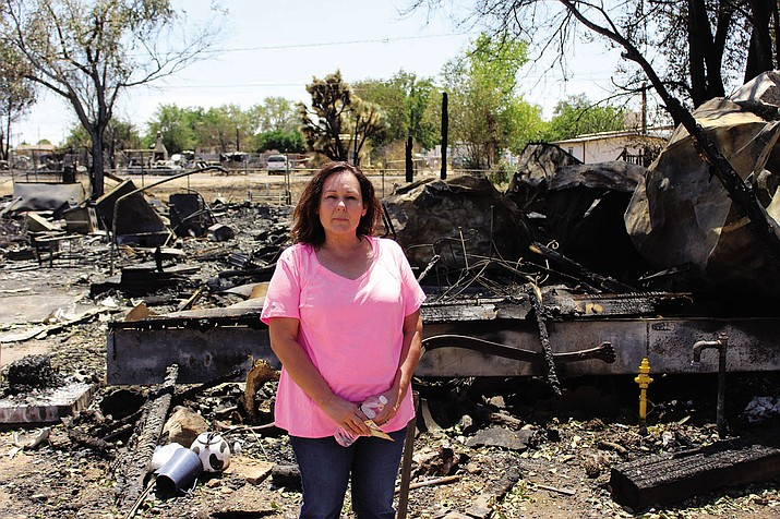 Three weeks after the death of her husband, Christy Brown lost nearly half her belongings during the Butler fire Sunday. Despite having nothing left of her home, Brown remains resilient.