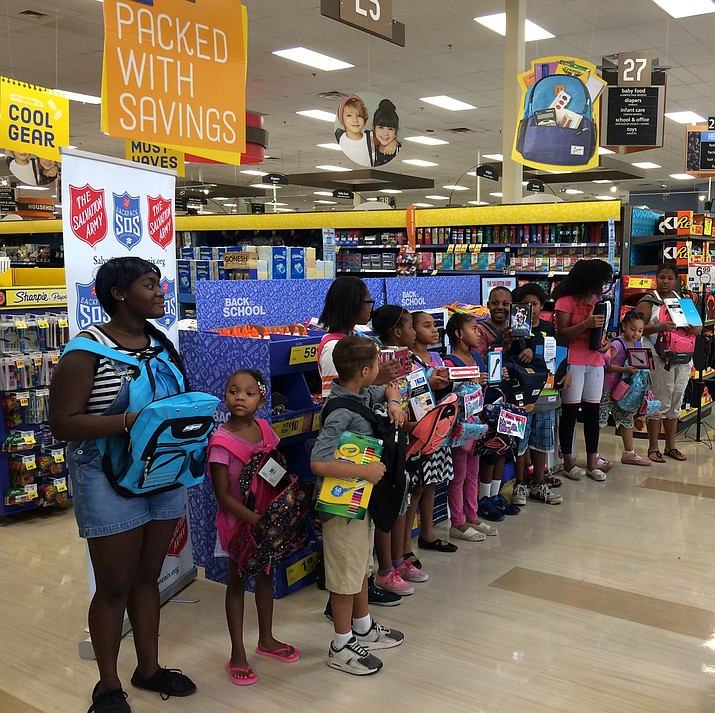 The Salvation Army's Backpack SOS drive for school supplies is in full swing.