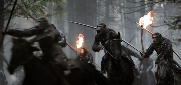 "Twentieth Century Fox's ""War for the Planet of the Apes"" is now showing. (Twentieth Century Fox via AP)"