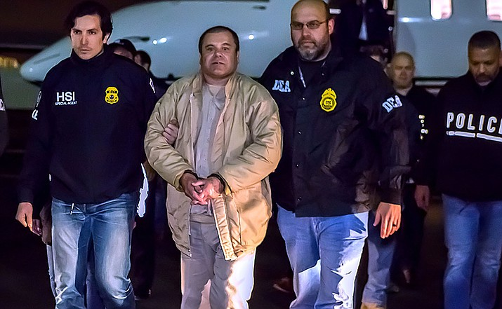 "Joaquin ""El Chapo"" Guzman, head of the Sinaloa Cartel, in U.S. custody January 19, 2017."