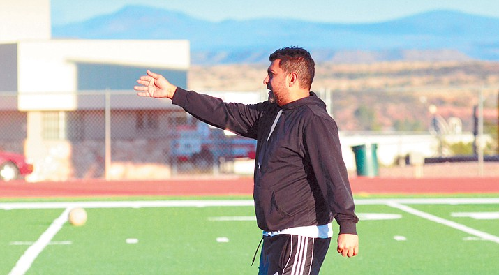 Mingus Union head boys soccer coach Calvin Behlow decided to return to the post after resigning months ago. Behlow has been the Maruaders' head coach for four years and served as an assistant for seven seasons before that. (VVN File Photo)