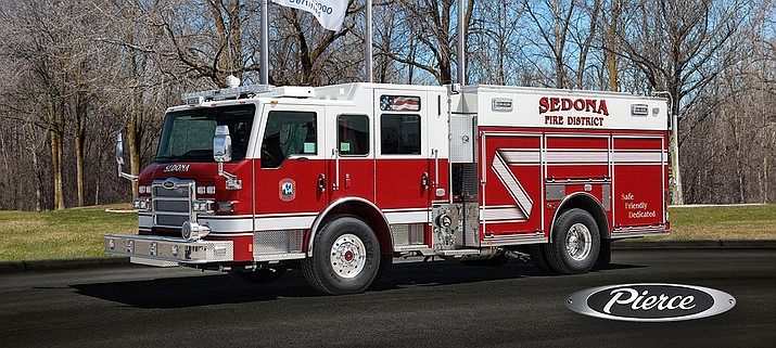 Firefighters are Station 3 in the Village of Oak Creek will officially place the new Engine 531 (a 2016 Pierce) in service with a wet-down and push-in ceremony Monday. (Photo courtesy of Pierce Manufacturing)