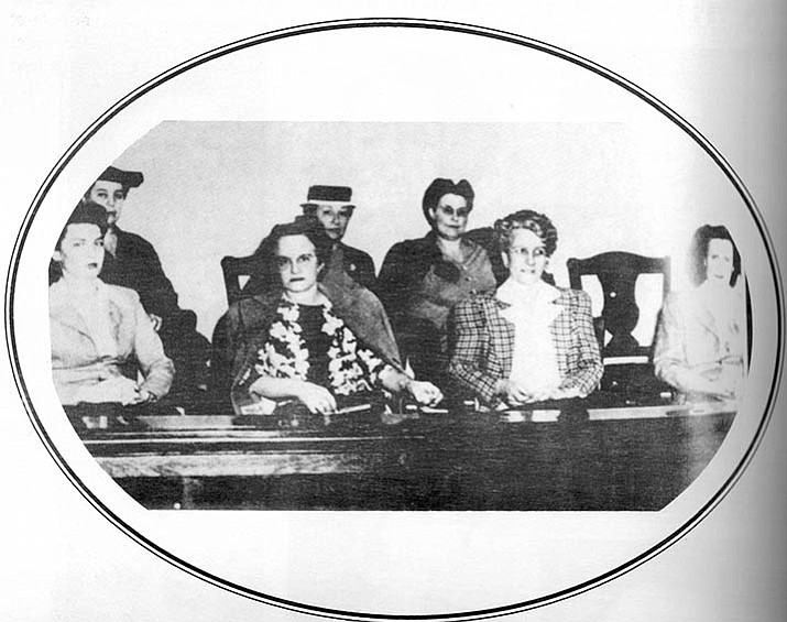 The first women to serve on a jury in Arizona, photo graphed in 1945. (Courtesy of the author)