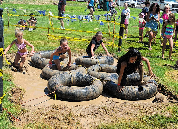 Getting through these tubes might be easy for an adult, but the age 6-7 class had a bit more of a struggle.