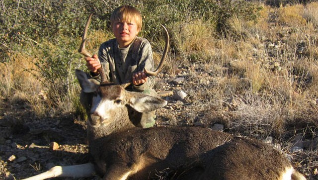 Adam Chastain took this buck on a juniors only muzzleloader hunt in Unit 16A, the Hualapai Mountains. Under a proposal by the AZGFD, this hunt would no longer be offered to youth in Arizona.