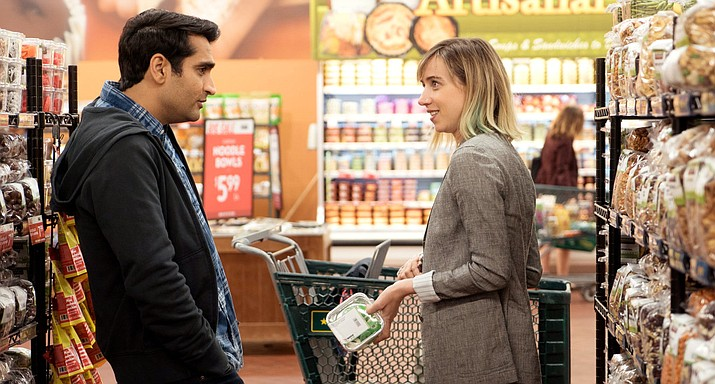 Kumail Nanjiani and Zoe Kazan cross the hurdles of interracial relationship in The Big Sick.