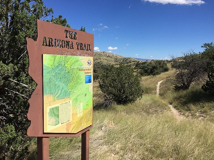 The Arizona National Scenic Trail stretches over 800 miles from Mexico to the Utah border.