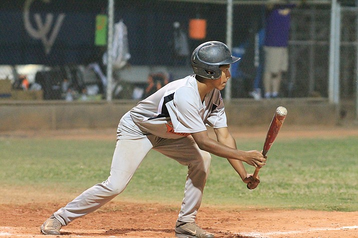 Mario Vasquez gets ready to bunt during the District 10 Championship game with Verde Valley July 11.