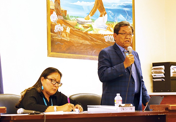 President Begaye told the community there are concerns at the U.S. Senate level over Indian Health Services. Submitted photo
