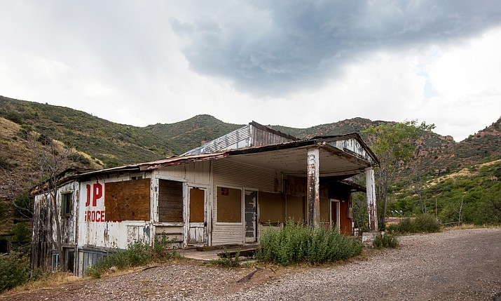 A dilapidated building in Jerome. (VVN/Halie Chavez)