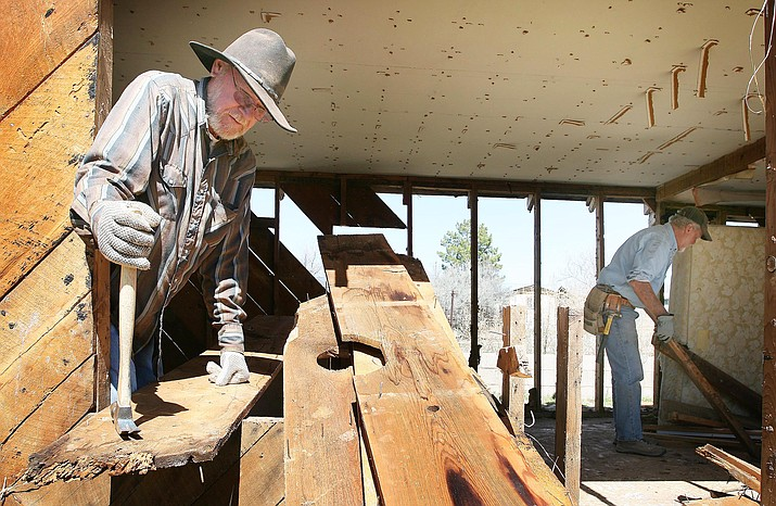 Since 2009, The Old Guys, pictured, have been responsible for many of Camp Verde's renovations, restorations and other projects. On Aug. 9, The Old Guys will officially receive their 2017 Volunteer of the Year award from the Arizona Parks and Recreation Association. (Photo by Bill Helm)