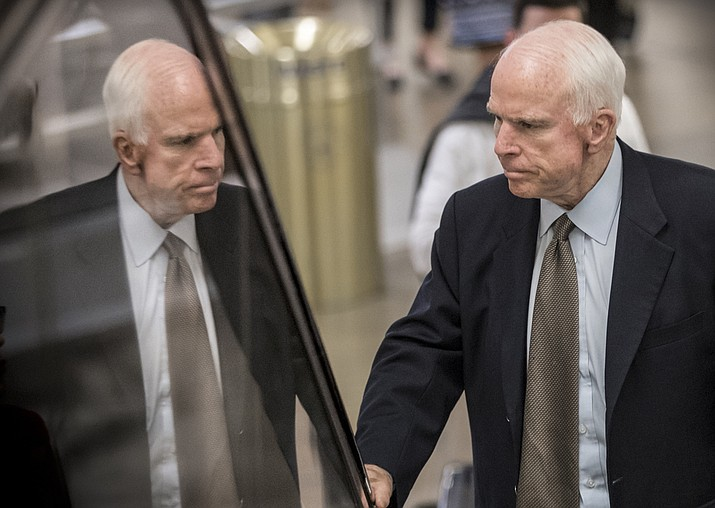 John McCain, R-Ariz., a Vietnam veteran and former prisoner of war and the GOP's presidential nominee in 2008, has been diagnosed with glioblastoma, an aggressive type of brain cancer. (AP Photo/J. Scott Applewhite, File)
