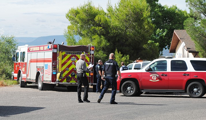 One person and one dog were confirmed deceased Monday afternoon while investigating a car fire on Chuckawalla Drive. (VVN/Jennifer Volpe)