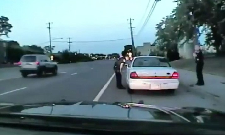 Screenshot from police dashcam video of the July 6, 2016 fatal shooting of Philando Castile. A Minnesota police officer fatally shot Castile, a black man, in his car after he was pulled over for having faulty brake lights.