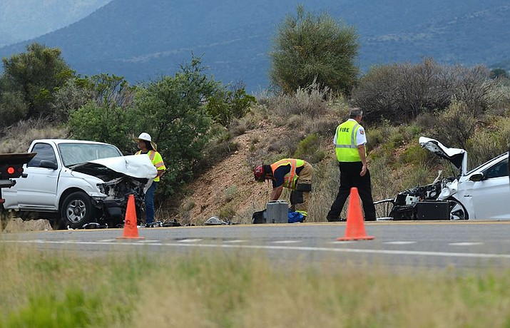This is the second accident today on SR260 between Cottonwood and Camp Verde. It was just before noon and one person was flown from the scene by medical helicopter.  It was near the entrance of Thousand Trails and closed traffic to one lane. The earlier accident was on the Cottonwood side of Cherry Creek Road around 6:30 am, just down the highway from this accident. VVN/Vyto Starinskas