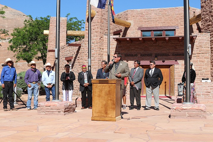Navajo Nation Speaker LoRenzo Bates addresses the nation. Submitted photo