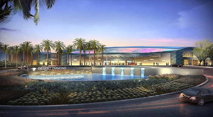 Artist's concept of the front of the new casino the Tohono O'odham Nation plans to build now that it has final federal government approval. Drawing courtesy of Tohono O'odham Nation