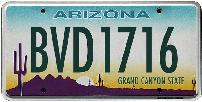 Alfredo Lopez is driving a black GMC with Arizona license plate number BVD 1716.