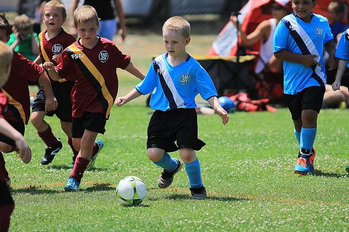 Williams AYSO 8U soccer team played a Flagstaff area team in Williams July 15.