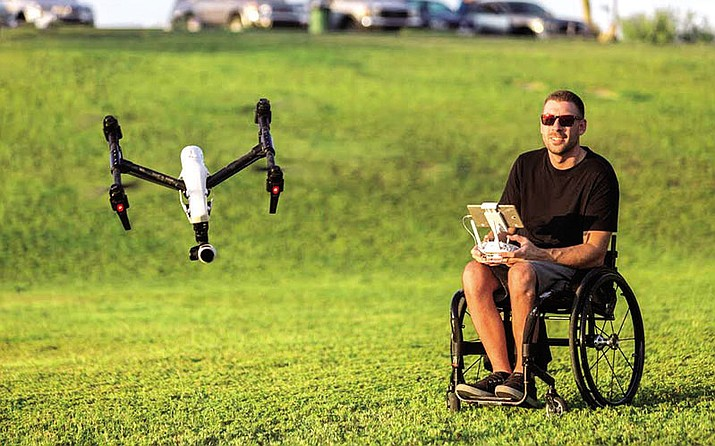 Jim Boomer takes his drones out to the field.