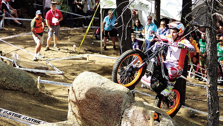 Toni Bou (Spain) qualifies Friday for the TrialGP Wagner Cup continuing today in the Hualapai Mountains.